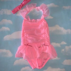 Hula Star Pink Swimsuit 4T